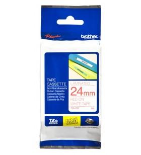 Brother TZe-252 benzi pentru etichete Rosu pe alb