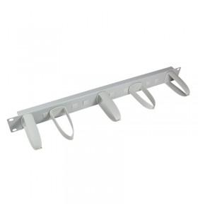 """PANOU gestionare cabluri LOGILINK, 1U pentru rack 19"""", 5 carlige detasabile cu rotatie la 360 grade, Grey """"OR105G"""""""
