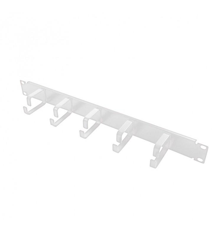 """PANOU gestionare cabluri LOGILINK, 1U pentru rack 19"""", 5 inele de metal pentru prinderea cablurilor, Grey """"OR101G"""""""