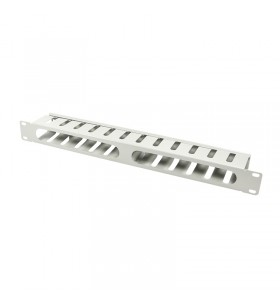 """PANOU gestionare cabluri LOGILINK, 1U pentru rack 19"""", conducta de cablu cu capac detasabil, otel 1.5mm, vopsea antistatic, Gre"""