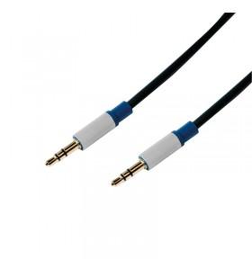 "CABLU audio LOGILINK  stereo (3.5 mm jack T/T), 1.5m, premium, conectori auriti, negru ""BASC15"""