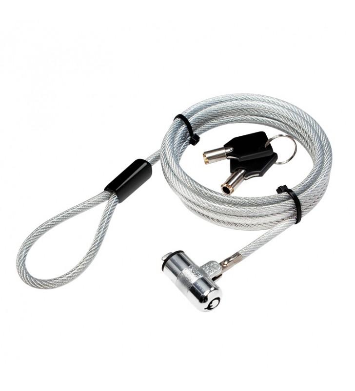 CABLU securitate LOGILINK pt. notebook, slot standard, 2 chei standard, 1.5m, cablu otel ultra-slim, permite pivotare si rotire