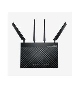 ASUS 4G-AC68U router wireless Bandă dublă (2.4 GHz  5 GHz) Gigabit Ethernet 3G Negru