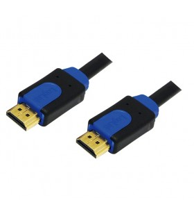 CABLU video LOGILINK, HDMI (T) la HDMI (T), 2m, premium, conectori auriti, rezolutie maxima 4K UHD (3840 x 2160) la 60 Hz, negru