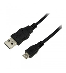 "USB 2.0 Cable, AM to Micro BM, black, 5m ""CU0060"""
