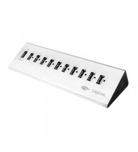 "USB 2.0 HUB 10+1 port, aluminum, incl. power supply ""UA0226"""