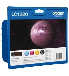 Brother LC-1220VALBP cartușe cu cerneală Original Negru, Cyan, Magenta, Galben Pachet multiplu 4 buc.