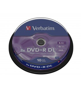 Verbatim 43666 DVD-uri blank 8,5 Giga Bites DVD+R DL 10 buc.