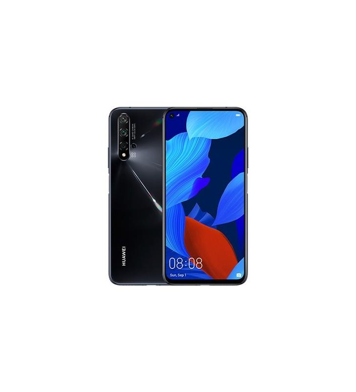 "Huawei nova 5T 15,9 cm (6.26"") 6 Giga Bites 128 Giga Bites Dual SIM 4G USB tip-C Negru Android 9.0 3750 mAh"