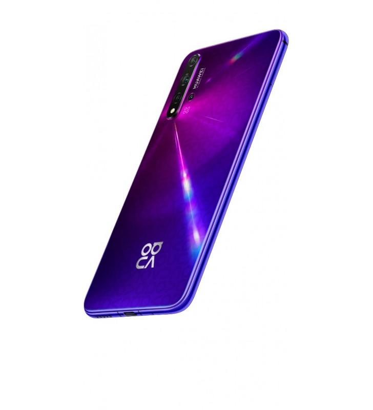 "Huawei nova 5T 15,9 cm (6.26"") 6 Giga Bites 128 Giga Bites Dual SIM 4G USB tip-C Purpuriu Android 9.0 3750 mAh"