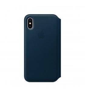 Husa de protectie Apple Folio pentru iPhone X, Piele - Cosmos Blue