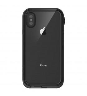 Husa rezistenta la apa pentru iPhone X Catalyst, Negru