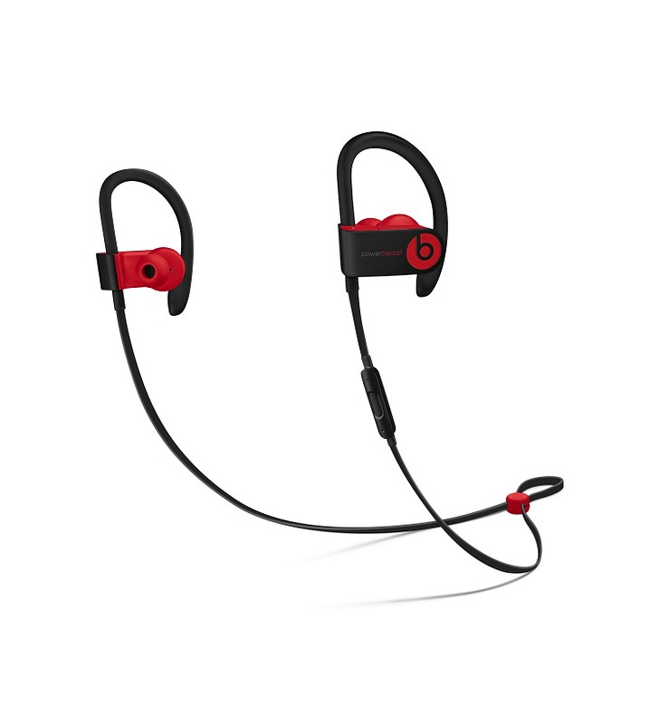 Beats Powerbeats3 Wireless Earphones - The Beats Decade Collection - Defiant Black-Red