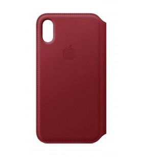 Husa de protectie Apple Folio pentru iPhone Xs, Piele -  (PRODUCT)RED