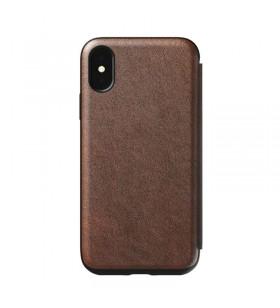 Husa de protectie Nomad Folio pentru iPhone X / iPhone Xs, Piele, Maro