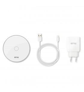 Incarcator Wireless iSTYLE Pad+ pentru iPhone, Alb