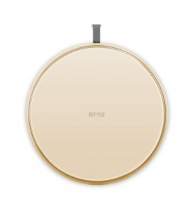 Incarcator Wireless iSTYLE Ultraslim pentru iPhone, Gold