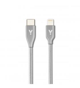 Cablu de date iSTYLE Lightning - USB-C, 1.2m, Argintiu