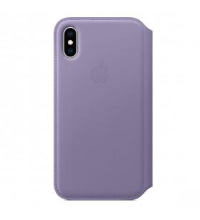 Husa de protectie Apple Folio pentru iPhone Xs Max, Piele, Lilac (Seasonal Spring2019)