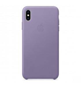Husa de protectie Apple pentru iPhone Xs Max, Piele, Lilac (Seasonal Spring2019)