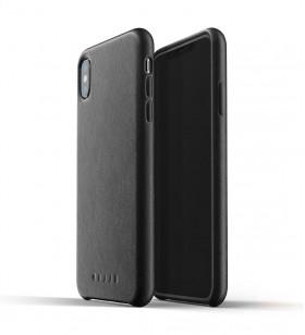 Husa de protectie Mujjo pentru iPhone XS Max, Piele, Negru