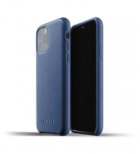 Husa de protectie Mujjo pentru iPhone 11 Pro, Piele, Monaco Blue