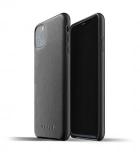 Husa de protectie Mujjo pentru iPhone 11 Pro Max, Piele, Negru