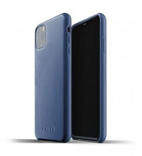 Husa de protectie Mujjo pentru iPhone 11 Pro Max, Piele, Monaco Blue