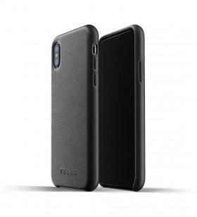 Husa de protectie Mujjo pentru iPhone Xs, Piele, Negru