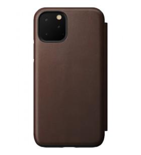 Husa de protectie Nomad Folio pentru iPhone 11 Pro, Piele, Maro