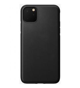 Husa de protectie Nomad pentru iPhone 11 Pro Max, Piele, Negru