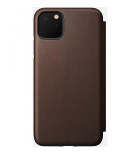 Husa de protectie Nomad Folio pentru iPhone 11 Pro Max, Piele, Maro