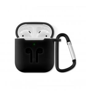 Husa de protectie iSTYLE Outdoor pentru Apple AirPods (Gen. 1/2), Negru