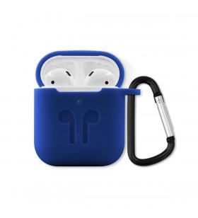 Husa de protectie iSTYLE Outdoor pentru Apple AirPods (Gen. 1/2), Albastru