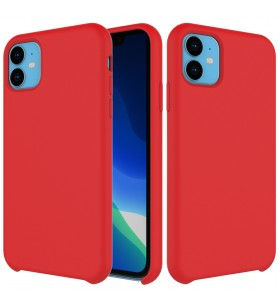Husa de protectie Next One pentru iPhone 11, Silicon, Rosu