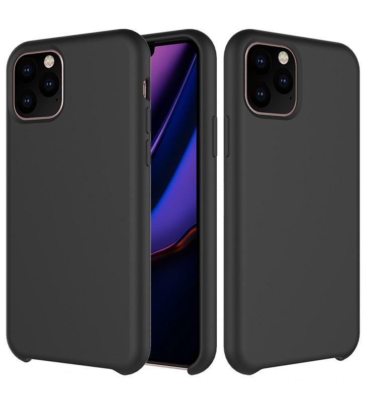 Husa de protectie Next One pentru iPhone 11 Pro, Silicon, Negru