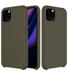 Husa de protectie Next One pentru iPhone 11 Pro, Silicon, Olive Green