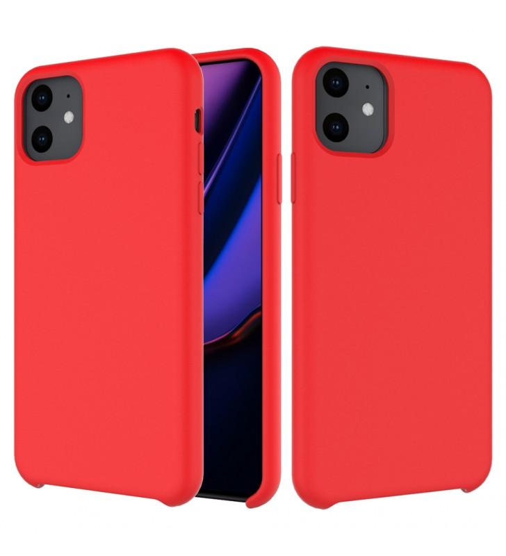 Husa de protectie Next One pentru iPhone 11 Pro Max, Silicon, Rosu