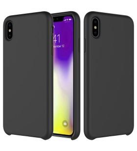 Husa de protectie Next One pentru iPhone 11, Silicon, Negru