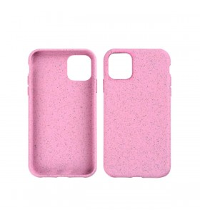 Husa de protectie biodegradabila NextOne pentru iPhone 11, Roz