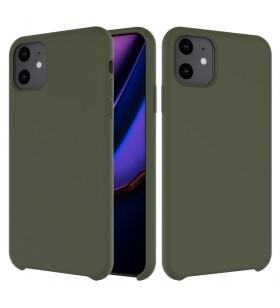 Husa de protectie Next One pentru iPhone 11 Pro Max, Silicon, Olive Green