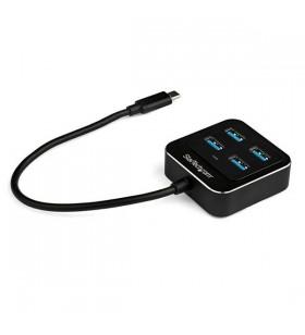 StarTech.com HB31C4AB hub-uri de interfață USB 3.2 Gen 2 (3.1 Gen 2) Type-C 10000 Mbit s Negru