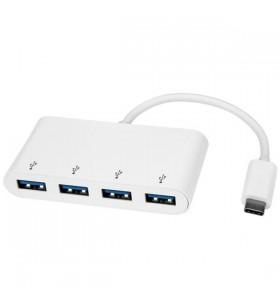 StarTech.com HB30C4ABW hub-uri de interfață USB 3.2 Gen 1 (3.1 Gen 1) Type-C 5000 Mbit s Alb