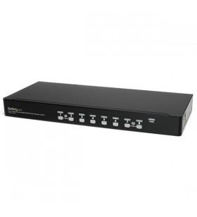 StarTech.com SV831DUSBUK switch-uri pentru tastatură, mouse și monitor (KVM) Raft pentru montat echipamente Negru