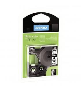 DYMO D1 Durable - Black on White - 12mm benzi pentru etichete Negru pe alb