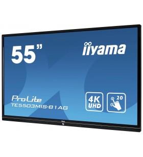 """iiyama ProLite TE5503MIS-B1AG monitoare cu ecran tactil 139,7 cm (55"""") 3840 x 2160 Pixel Negru Multi-touch Multi-utilizatori"""
