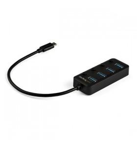 StarTech.com HB30C4AIB hub-uri de interfață USB 3.2 Gen 1 (3.1 Gen 1) Type-C 5000 Mbit s Negru