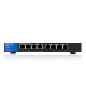 Linksys LGS108P Fara management Gigabit Ethernet (10 100 1000) Negru Power over Ethernet (PoE) Suport
