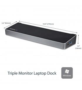 StarTech.com USB3DOCKH2DP stații de andocare și replicatoare de porturi pentru calculatoare portabile Prin cablu USB 3.2 Gen 1