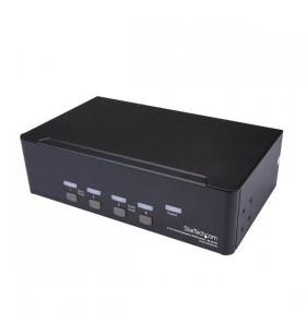 StarTech.com SV431DPDDUA2 switch-uri pentru tastatură, mouse și monitor (KVM) Raft pentru montat echipamente Negru
